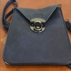 Bosam Blue Leather Small Bag